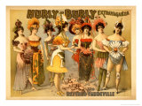 Hurly-Burly Extravaganza and Refined Vaudeville - Art Print