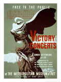 Victory Concerts at the Metropolitan Museum of Art Posters by Byron Browne