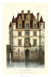 French Chateaux in Brick I Giclee Print by Victor Petit