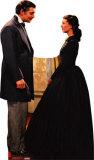 Rhett Butler And Scarlett O'Hara Silhouette en carton