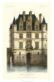 French Chateaux in Blue I Giclee Print by Victor Petit