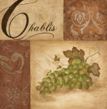 Chablis Grapes Posters by Eugene Tava