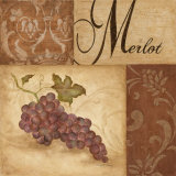 Merlot Grapes Art by Eugene Tava