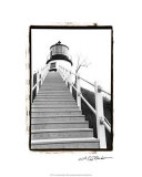 Owl's Head Light, Maine Reproduction procédé giclée par Laura Denardo