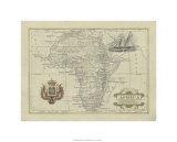 Antike Karte von Afrika Giclée-Premiumdruck