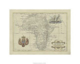 Antique Map of Africa Premium Giclee Print