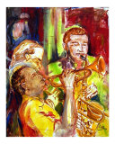 Hot Jazz in New Orleans Giclee Print by Diane Millsap