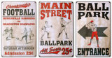 Play Ball Tin Sign