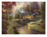 Stillwater Cottage Collectable Print by Thomas Kinkade