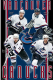 Vancouver Canucks (Daniel Sedin, Roberto Luongo, Henrik Sedin, Markus Naslund) Plakater