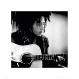Bob Marley with Guitar Poster