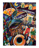 Relief & All That Jazz Giclee Print by Angel Turner Dyke