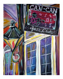 Can Can Jazz Club Giclee Print by Angel Turner Dyke