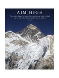 Stecke dir hohe Ziele  Gipfel des Mt Everest Fotografie-Druck von AdventureArt 