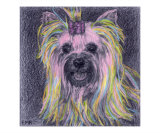 Girly Pup Giclee Print by Evelyn Morris Hecht
