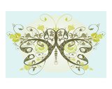 Lime Green Butterfly Photographic Print by Estela Lugo