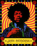 Jimi Hendrix - Psychedelic Kunstdruck