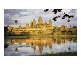 Angkor Wat at Golden Hour Photographic Print by Kevin Dyer