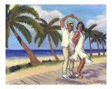 Salsa en la Playa Giclée-Druck von Alla Bespalov