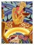 Hawaii Wahine Hula Luai Puai Poster Giclee Print