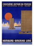 Hamburg America Orient Oceanline Poster Giclee Print