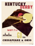 Kentucky Derby Horse Racing Poster Giclee Print