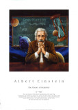 Albert Einstein Print by William Meijer