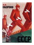 CCCP Russian Propaganda Poster Digitálně vytištěná reprodukce