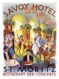 Savoy Hotel Restaurant Bar Concert Poster Giclee Print