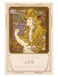 Mucha Nouveau Job Calendar Poster Giclee Print by Alphonse Mucha