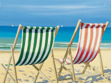 Beach Chairs Posters by Henri Deuil