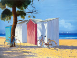 Beach Shacks II Prints by Henri Deuil