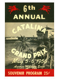 1956 Catalina Motocross Grand Prix Poster Reproduction procédé giclée