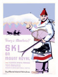 Canadian Mount Royal Ski Poster Reproduction proc&#233;d&#233; gicl&#233;e