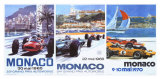 65, 66, 70 Monaco Grand Prix 3 in 1 Poster Reproduction proc&#233;d&#233; gicl&#233;e