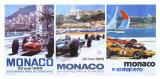 65, 66, 70 Monaco Grand Prix 3 in 1 Poster Giclée-tryk