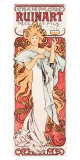Mucha Champagne Ruinart Poster Giclee Print by Alphonse Mucha