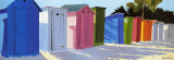 Row of Beach Shacks Prints by Henri Deuil
