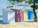 Beach Shacks I Prints by Henri Deuil