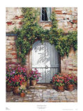 Wooden Doorway, Siena Print by Roger Duvall