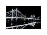 Albert Bridge at Night Prints by Bill Philip