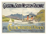Glasgow Railway Steamship Poster Giclee Print