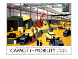 Capacity/Mobility on the LNER, LNER Poster, 1933 Giclee Print by Henry George Gawthorn