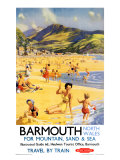 Barmouth, BR Poster, 1956 Giclee Print by Harry Riley