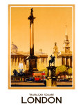 London, Trafalgar Square, 1948-1965 Giclee Print by Claude Buckle