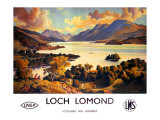 Loch Lomond, LNER and LMS Poster, circa 1940s Giclee Print