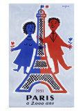 1951, Paris a 2.000 Ans ジクレープリント : レイモン・サヴィニャック