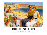Bridlington, LNER Poster, 1938 Giclee Print by Septimus Scott