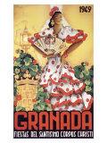 Granada Fiestas Del Santisimo Corpus Christi Poste Giclee Print by  Puya
