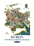Dublin, BR Poster, 1954 Giclee Print by Robert Edmund Lee